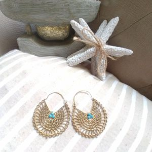 Accessories - Bohemian Filigree Indian Style HandCarved Earrings